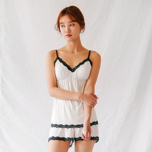 Lace matched camisole set-ivory레이스 매치 캐미솔 세트-아이보리S,M