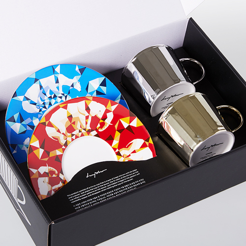 루이초Mirror Cup Gift Set-ShortPolar Bear+African Elephant